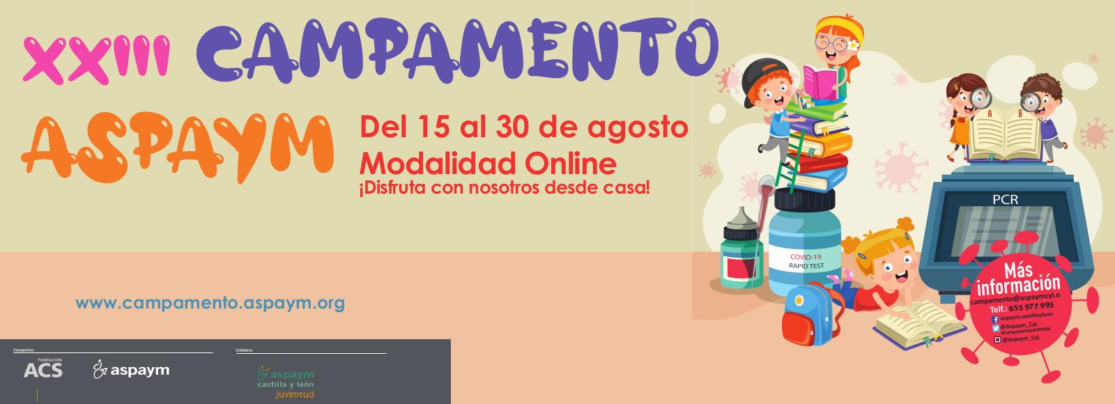 Campamento ASPAYM del 15 al 30 de agosto modalidad online